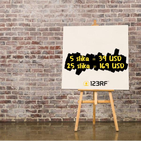 123RF Paket od 5 ili 25 stock slika